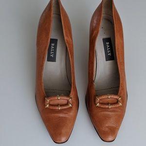 BALLY Leather SHOES Fern Nappa Flex Heels